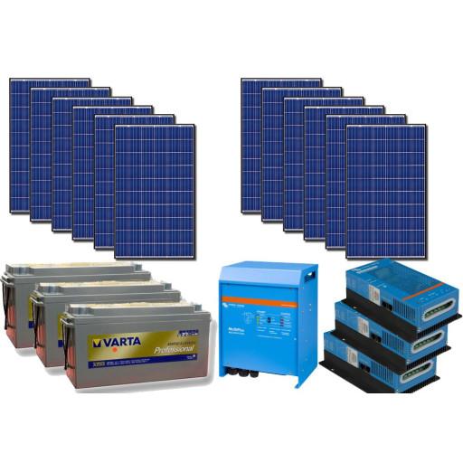 Kit solar off-grid 3kW cu invertor 220V