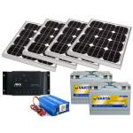 Kit alimentare solara - 220v / 400Wh