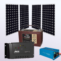 Kit alimentare solara - 220v / 660Wh - Imaginea nu are caracter contractual